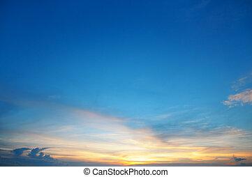 il, sole, serie, nubi