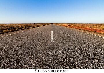 il, strada, a, nessun posto