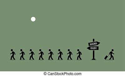 il, strada, meno, traveled.