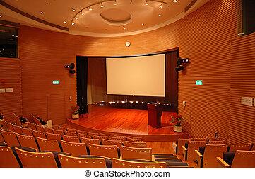 il, teatro, palcoscenico
