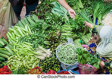il, venditore, e, il, acquirente, a, il, verdura, mercato