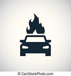 ild, automobilen, ikon