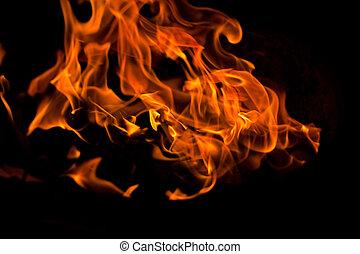 ild, grill, flammer