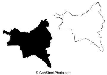 ile-de-france , denis, region), (france, εικόνα , τμήμα , γαλλίδα , άγιος , μικροβιοφορέας , χάρτηs , seine-saint-denis, δραμάτιο , μέγα δίκτυον , γράφω απροσεκτώς , δημοκρατία