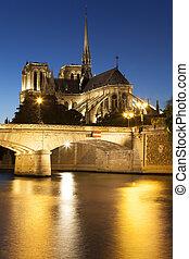 ile, notre, de, paris, france, france, cathédrale, dame