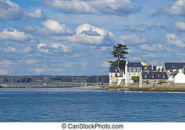 Ile-Tudy, Brittany, France - Ile-Tudy (Breton: Enez Tudi),...