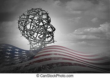 ilegal, americano, imigração