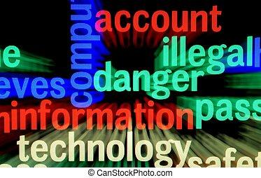 ilegal, peligro, información