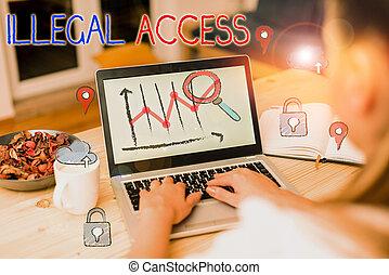 ilegal, texto, sin, consentimiento, user., access.,...