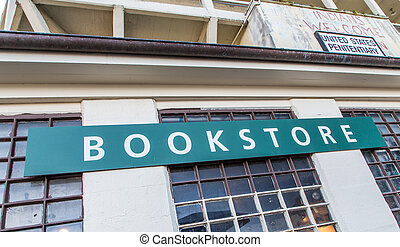 ilha alcatraz, livraria