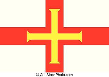 ilha, bandeira, guerseney, canal