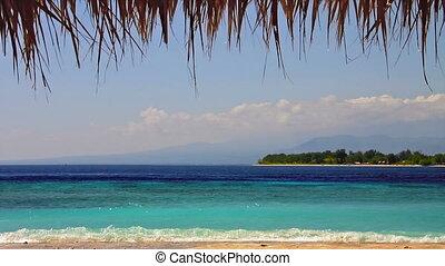 ilha, em, mar turquesa, volta