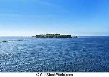 ilha, farol