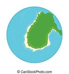 ilha, globo
