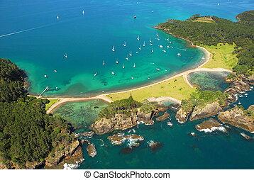 ilha, ilhas, baía, -, roberton