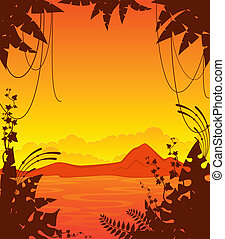 ilha pequena, palmas, tropicais