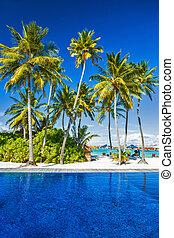 ilha, praia, luxo, recurso