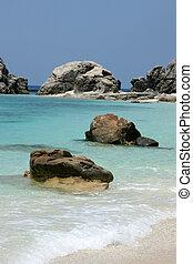 ilha, praia, tokashiki, -, tropicais, japão, okinawa