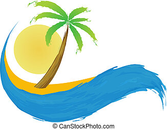 ilha tropical, palma, sea.