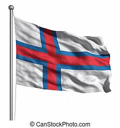 ilhas, bandeira, faroe
