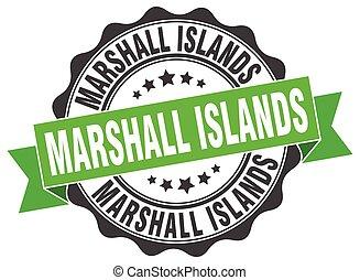 ilhas marshall, redondo, fita, selo
