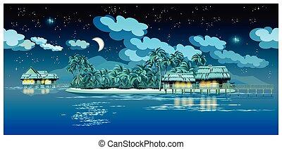 ilhas, paraisos , noturna