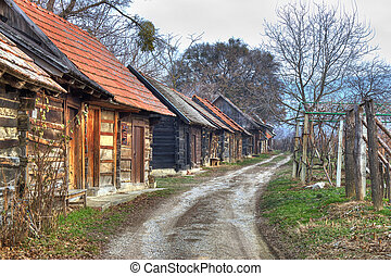 Ilica - famous traditional wine road with cottagres in...