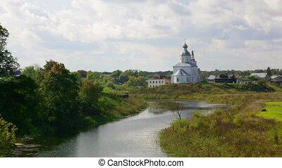 ilinsky, kirche, an, suzdal, in, summer., russland
