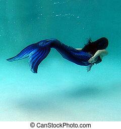I'll be Swimming Home - Mermaid swimming in a pool