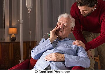 Ill old person in need - Photo of ill old person in need...