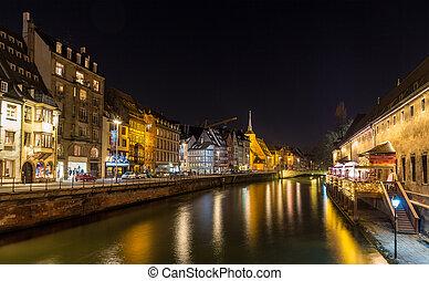 Ill river in Strasbourg - Alsace, France