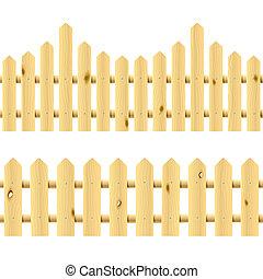 ill., seamless, 木製である, fences.