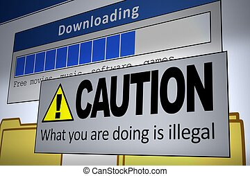 Illegal Download - Computer generated image of an illegal...