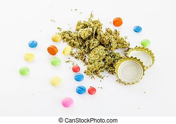 illegal, drugs., narkotisk, förgiftar