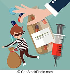 illegal drugs trafficking narcotics smuggling crime police...