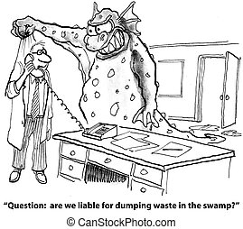 "Illegal dumping of waste - ""Question: are we liable for ..."