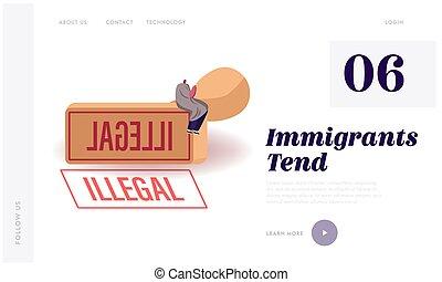 Illegal immigrant Stock Illustrations. 1,334 Illegal ...