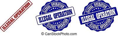 ILLEGAL OPERATION Grunge Stamp Seals