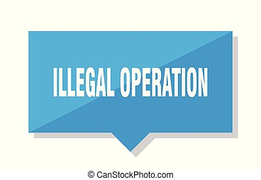 illegal operation price tag