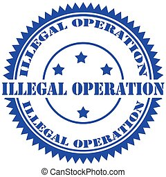 Illegal Operation-stamp