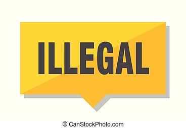 illegal, preisetikett