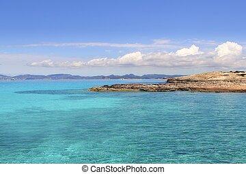 Illetas Formentera sea ibiza horizon Balearic