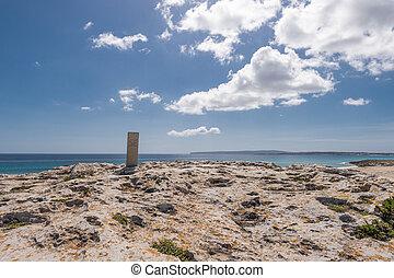 Illetes beach in Formentera island, Mediterranean sea, Spain
