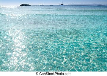 Illetes Illetas beach Formentera turquoise Mediterranean