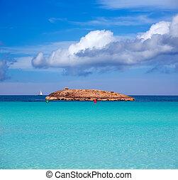 Illetes Illetas island in formentera beach at Balearic