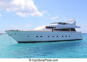 illetes, turkoois, formentera, jacht, luxe