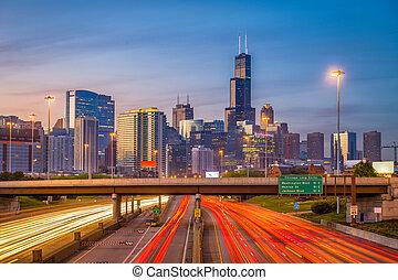 illinois, chicago, usa, horizon