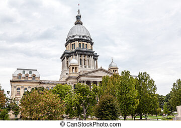 illinois, de bouw van capitol van de staat