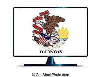 Illinois Flag TV