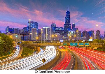 illinois, horizon, chicago, usa